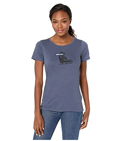 Columbia Outer Boundstm Short Sleeve Tee (Nocturnal Heather/Bearly) Women