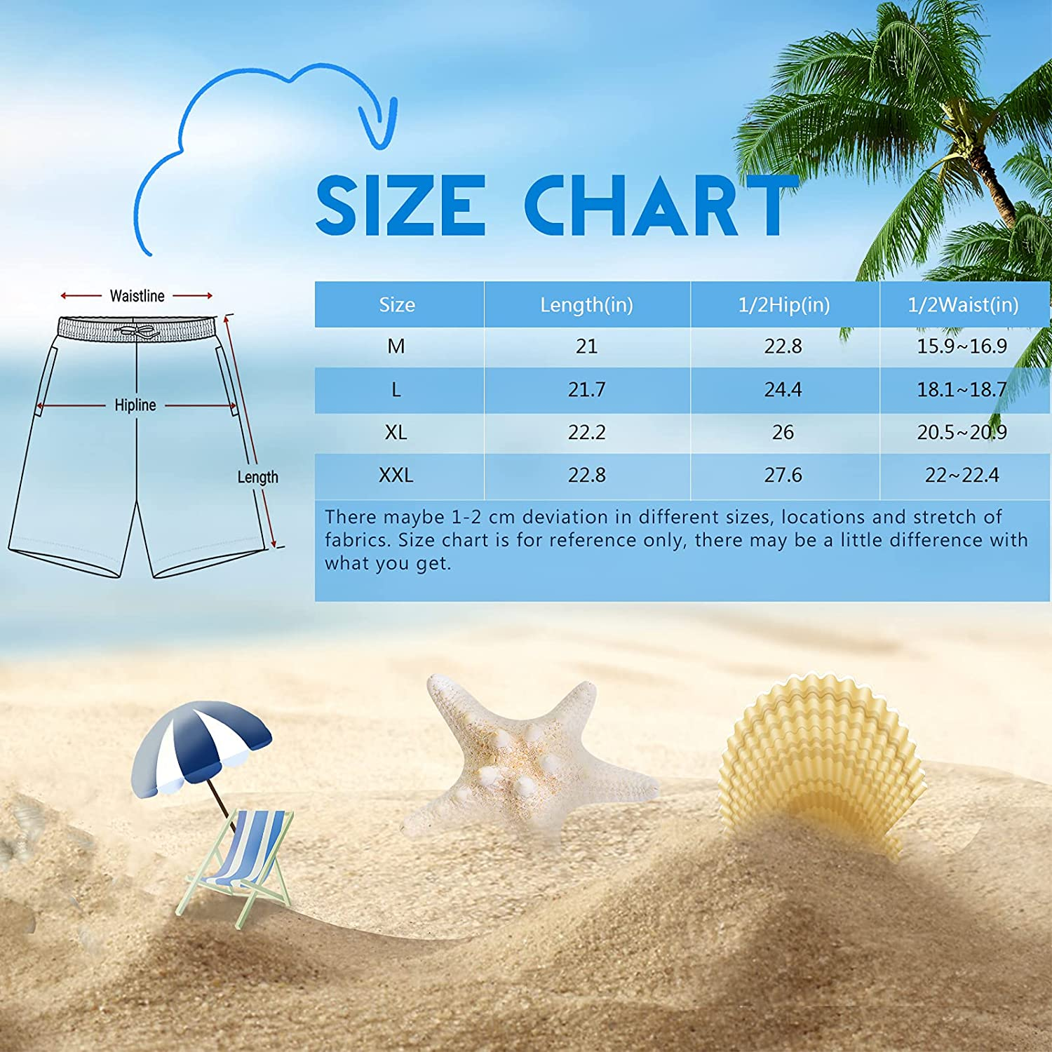 Men's Classic Swim Trunks, with Mesh Lining Beach Board Shorts, 3D Printed Swim Shorts with Pockets