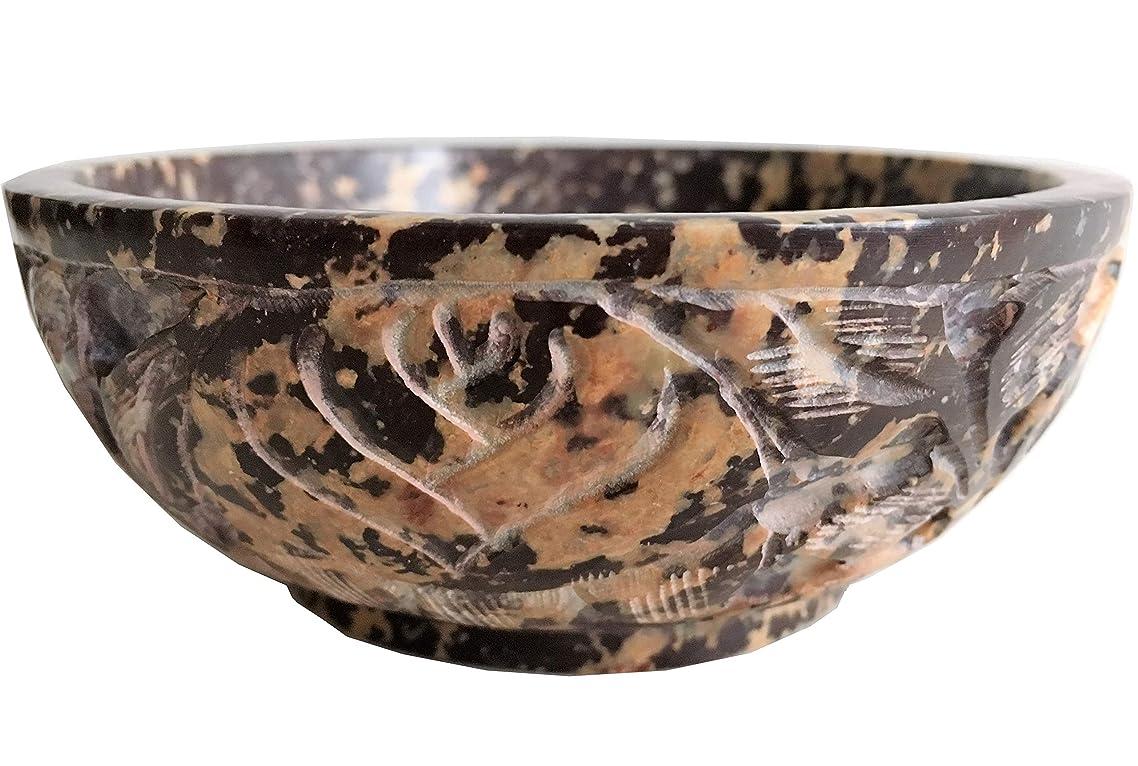 敬の念水っぽい感じソープストーンIncense Burner Bowl / Smudgeポット/ウィッカRitual Offeringボウル5?