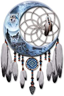 The Bradford Exchange Al Agnew Wolf Art Dreamcatcher Wall D??cor Lights Up