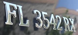 Boat Registration Number Boat Lettering Chrome Emblem Pontoon Style 3