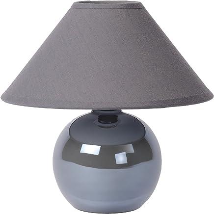 Lucide 14553/81/36 - Faro, lampada da tavola in ceramica + cotone, colore: Grigio