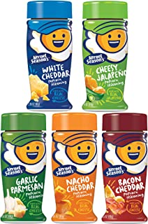Kernel Seasons Popcorn Seasoning Kit CHEESE LOVERS Complete Set (Variety Pack of 5 Different Cheesy Flavors)