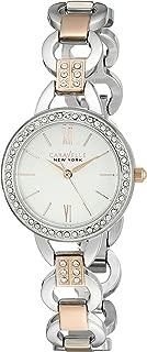 Caravelle New York Women's 45L157 Swarovski Crystal  Two Tone Watch