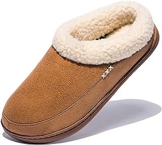 NDB Women's Cozy Memory Foam Suede Slippers Fuzzy Wool-Like Plush Fleece Lined Slip on Indoor Outdoor House Shoes
