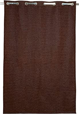 Saral Home Chenille Grommet Curtains, 4 X 9 Feet, Brown, Pack of 2