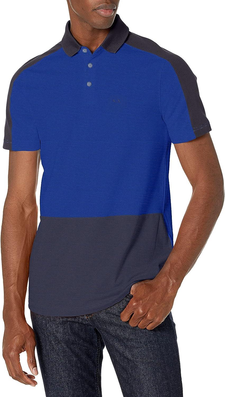 AX 2021 OFFicial new Armani Exchange Men's Polo Tri Colorblock