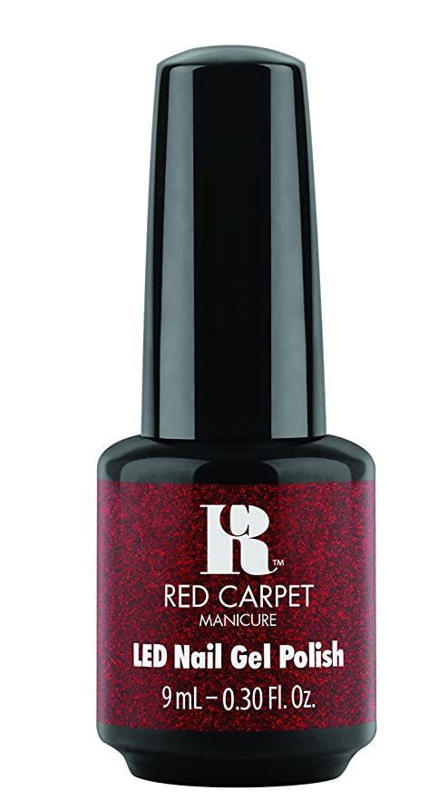 長椅子シャーク起業家Red Carpet Manicure - LED Nail Gel Polish - Designer Series - Draped in Rubies - 0.3oz/9ml