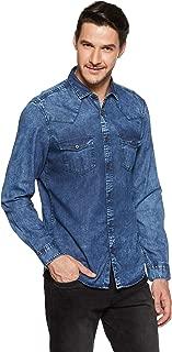 Indigo Nation Street Men's Solid Slim Fit Casual Shirt