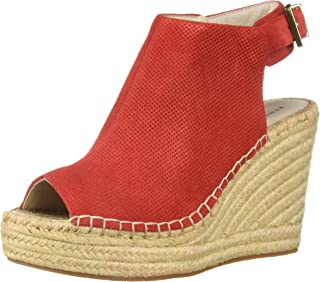 Kenneth Cole New York Women's Olivia 2 Perf Espadrille Wedge Sandal, Fuego, 9.5 M US