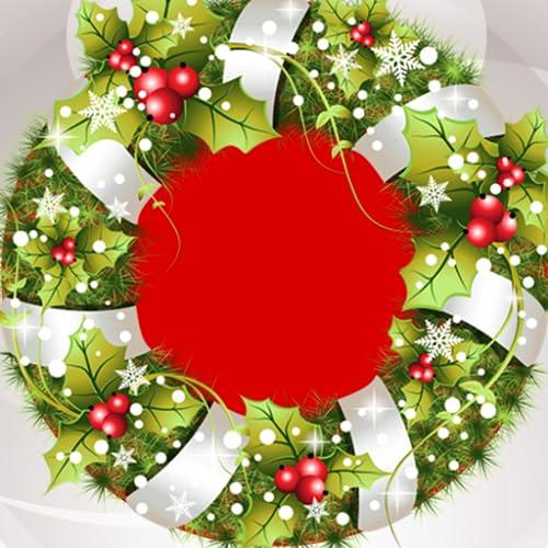 Collage de photo de couronne de Noël