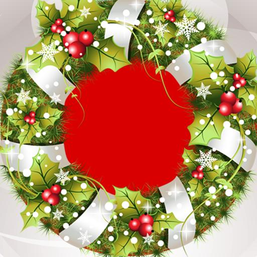 Collage de la foto de la guirnalda de Navidad