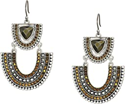 Tribal Pave Statement Earrings