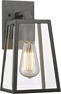 Chloe CH822034BK11-OD1 Transitional 1 Light Black Outdoor Wall Sconce 11