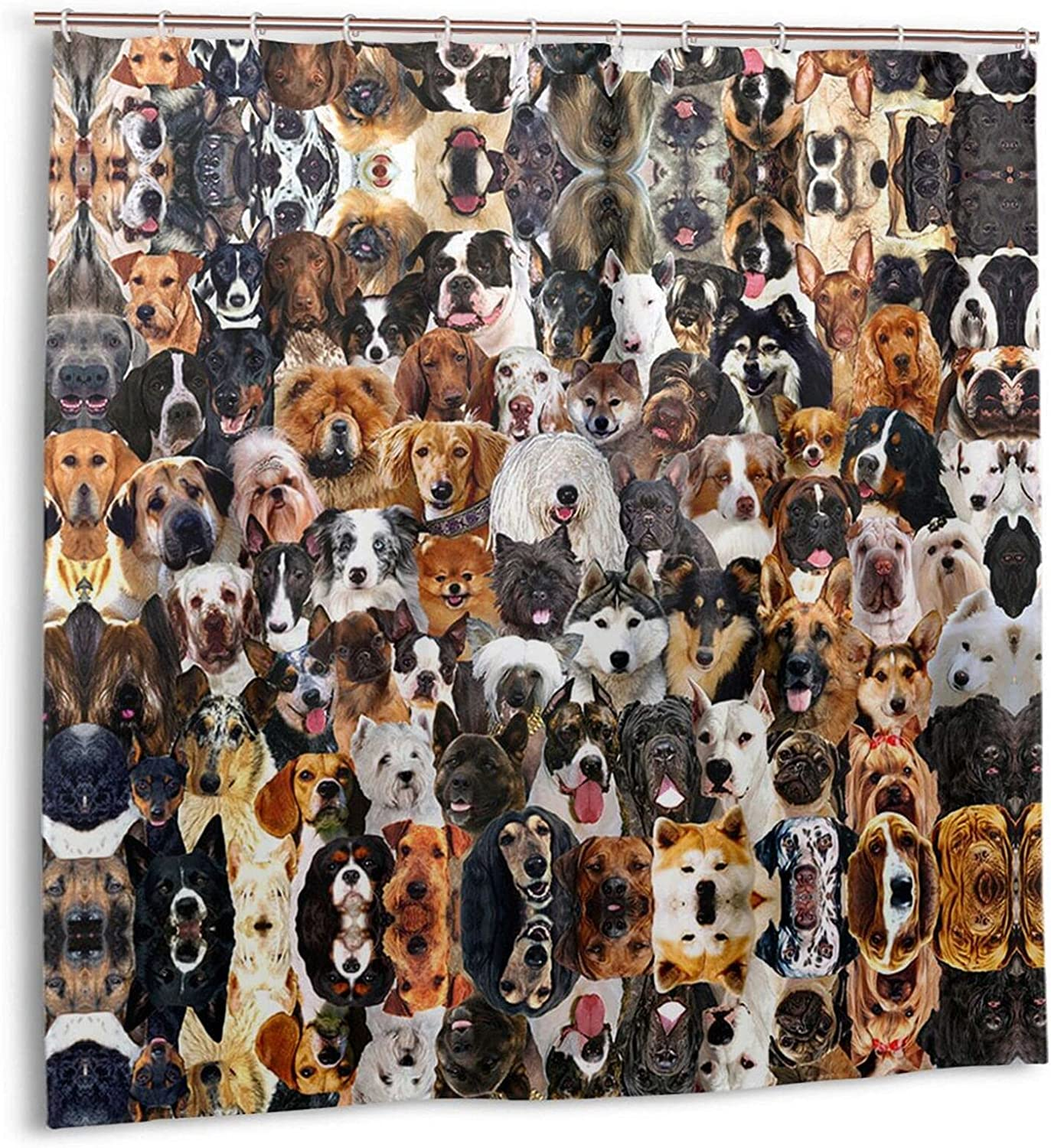Many Breeds Dogs Bathroom Shower Curtain No Ranking TOP1 Inch 72 X Chemi OFFicial
