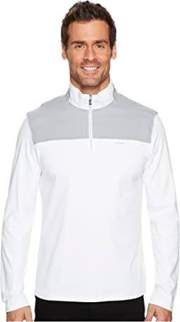 Calvin Klein - Mixed Media 1/4 Zip Pullover