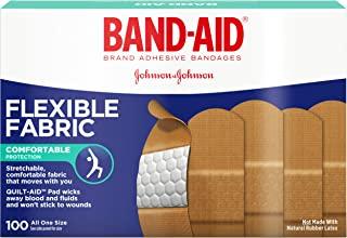 Band-Aid Adhesive Bandages, Flexible Fabric, All One Size 1