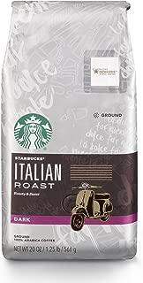 Starbucks Italian Roast Dark Roast Ground Coffee, 20-Ounce Bag