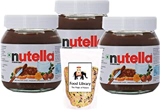 FOOD LIBRARY THE MAGIC OF NATURE Nutella Ferrero Hazelnut Spread with Cocoa, 350 g (Pack 3) with Sprinkles, 100 g
