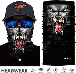 TEFITI Versatile Face Masks Casual Balaclava Headwear Stretchable Bandanna Headbands Wind/Sun/UV Protection for Cycling,Motorcycling,Fishing,Hunting,Hiking,Yard Working and Other