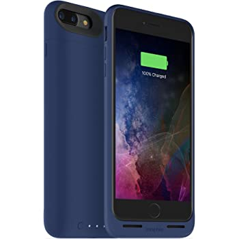mophie Juice Pack Wireless  - Charge Force Wireless Power - Wireless Charging Protective Battery Pack Case for Apple iPhone 8 Plus and iPhone 7 Plus - Blue