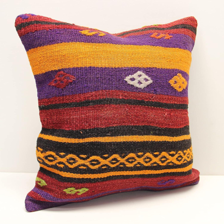 Turkish kilim Cash special price pillow cover 18x18 San Jose Mall inch Oriental bohemian vintage