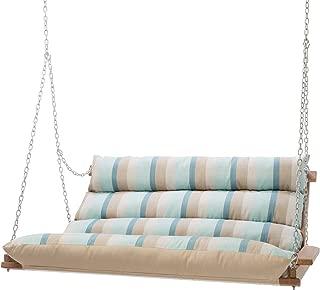 Hatteras Hammocks Deluxe Sunbrella Cushioned Double Swing - Gateway Mist