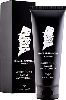 Men's Face Moisturizer by Beau Brummell | Men's Facial Cream | Men's Facial Lotion | Fast Absorbing Facial Moisturizer With A Non-Greasy, Matte Finish | 4 OZ