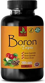 Boost Muscle Health and Energy - Anti Inflammation Supplements - Boron Triple Dietary Supplement - Boron Supplement - 1 Bo...
