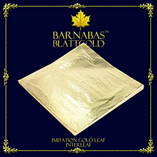 Imitation Gold Leaf Sheets - by Barnabas Blattgold - 100 Sheets - 5.5 inches - Loose Leaf Interleaved