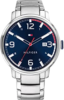 Tommy Hilfiger Men'S Blue Dial Stainless Steel Watch - 1791754