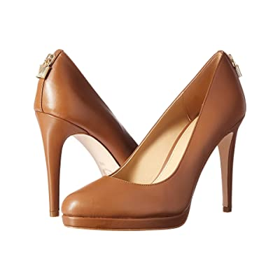 MICHAEL Michael Kors Antoinette Pump (Luggage Smooth Calf) High Heels