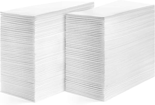 American Homestead Linen Feel Guest Towels Disposable Cloth Like Paper Hand Napkins Soft Absorbent Paper Hand Towels For Kitchen Bathroom Parties Weddings Dinners Or Events White 200