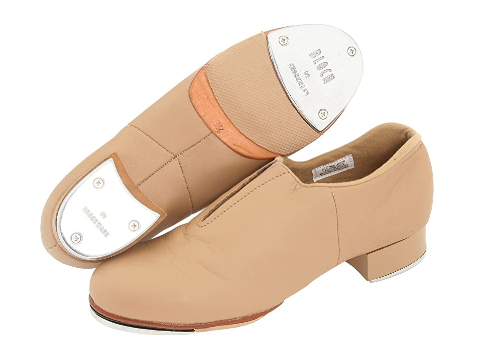 Swing Dance Shoes- Vintage, Lindy Hop, Tap, Ballroom Bloch - Tap-Flex Slip On Tan Womens Tap Shoes $87.00 AT vintagedancer.com
