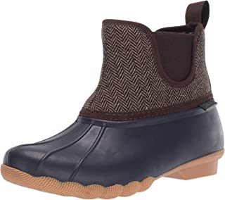 Skechers Women's Pond-Mid Herringbone Chelsea Duck Boot with Waterproof Outsole Rain