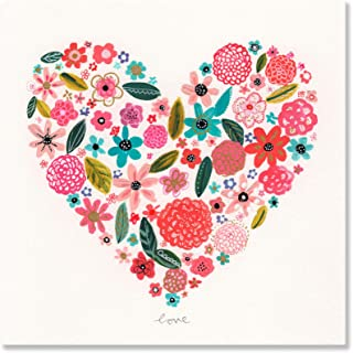 Oopsy Daisy Canvas Wall Art Painted Heart by Kim Anderson, 18 by 18-Inch