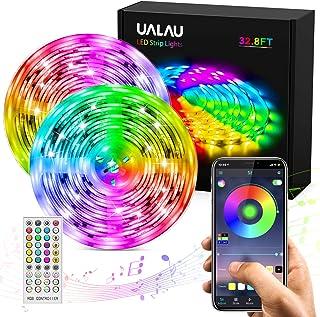 UALAU Tiras LED 10M APP y de Control Remoto Luces LED LED Tira Luz Sincronización de Música con 300 LEDs RGB 5050 SMD pa...