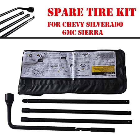 DICN New Spare Tire Tool Lug Wrench Kit for GMC Sierra Chevrolet Silverado with Carry Bag 22969377 20782708