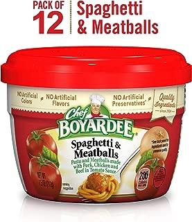 Chef Boyardee Spaghetti & Meatballs In Tomato Sauce, 7.5 Oz Microwavable Bowls (Pack Of 12)