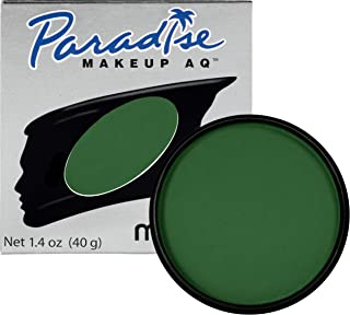 Mehron Makeup Paradise AQ Face & Body Paint, DARK GREEN: Basic Series - 40gm