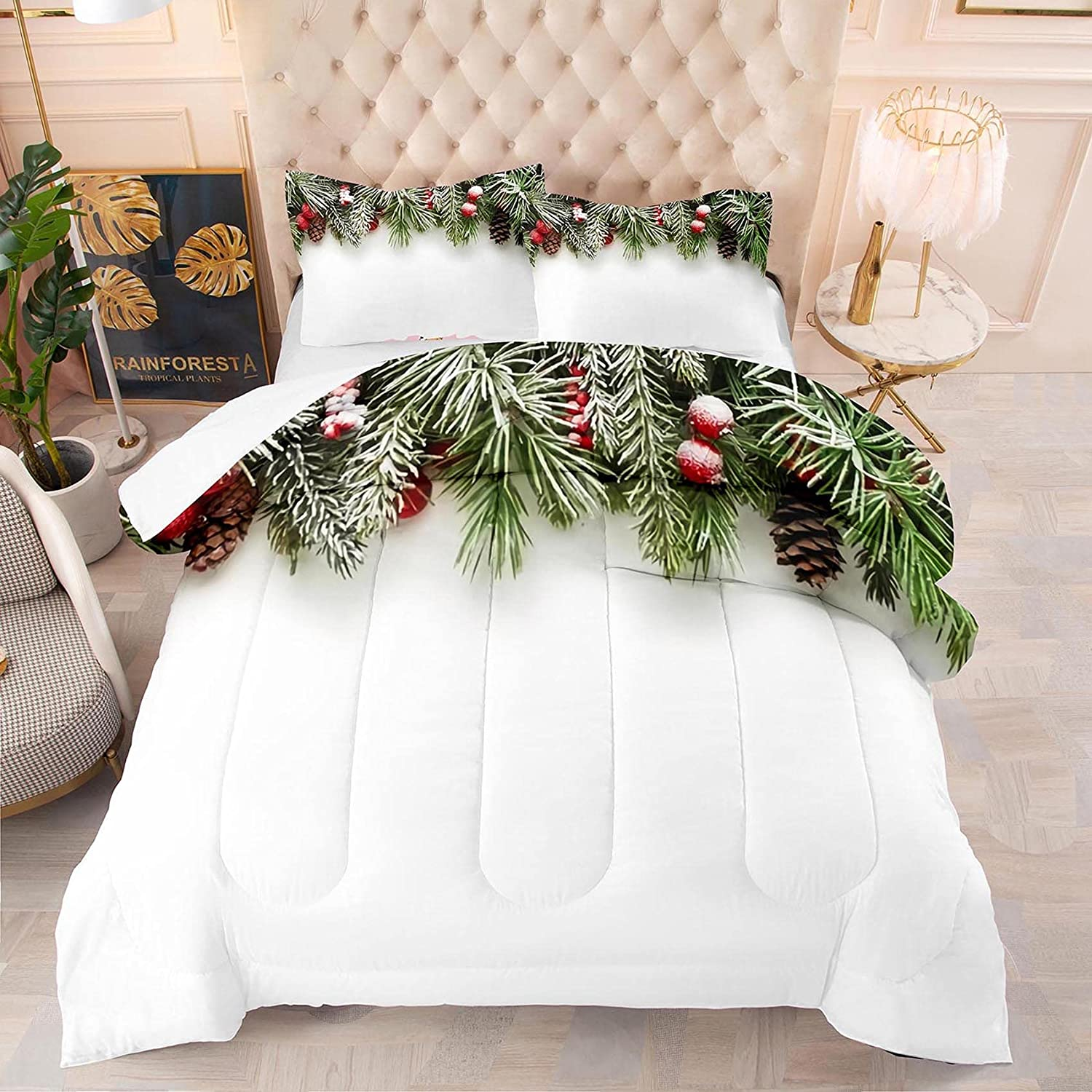 NINENINE Merry shipfree Christmas Comforter Sets Twin 3D Our shop most popular Teens for Boys C