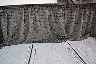 Gray Crib Skirt for Baby Girl Nursery Bedding Dust Ruffle