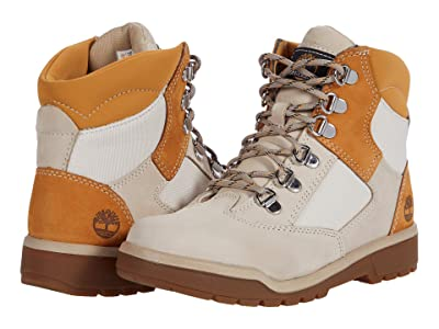 Timberland Kids 6 Leather/Fabric Field Boot (Big Kid) Boys Shoes