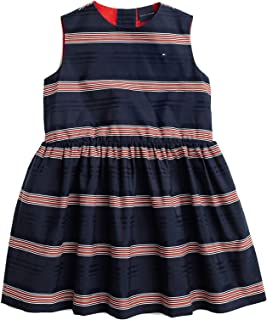 Tommy Hilfiger Girl's Sleeveless Dress With Magnetic Buttons and Velcro Casual