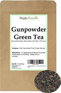 Gunpowder Green Tea   From China   Hand-rolled from Huangshan Mountains in Anhui Province (1 Pound)