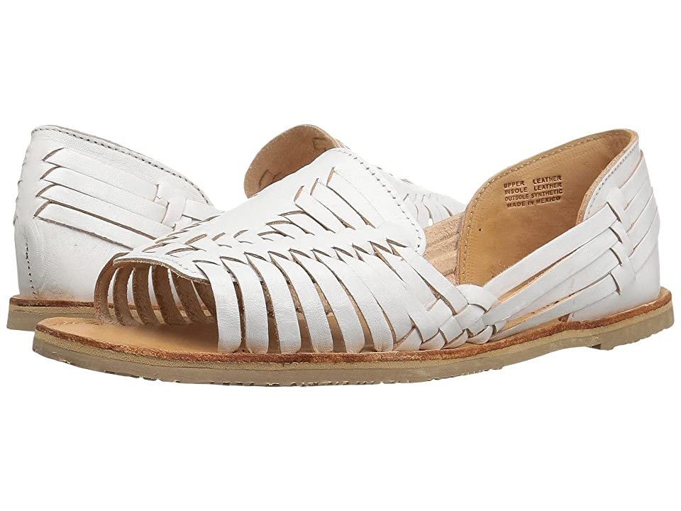 1940s Style Shoes, 40s Shoes Sbicca Jared White Womens Flat Shoes $64.99 AT vintagedancer.com
