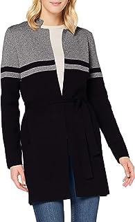 Morgan Gilet Long Bicolore Ceinturé Mbass Suéter para Mujer