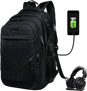Mochila para computadora portátil, Vagalbox 35L Mochila con puerto de carga USB Interfaz de auriculares, Mochila de viaje ...
