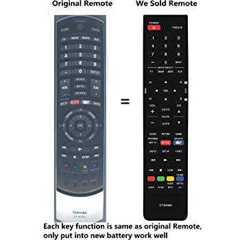 New CT-90366 CT 90366 CT90366 Replace Remote Control fit for Toshiba 24SL415U 32SL415Y 55SL417U 24SL415UM 32SL415 24SL415 40S51U 42SL417 42SL417U 46SL417 46SL417U 55SL417 32SL415U TV