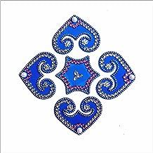 DivyaKala Acrylic Rangoli Home Decor (DK20, 61 cm x 76.2 cm), Blue